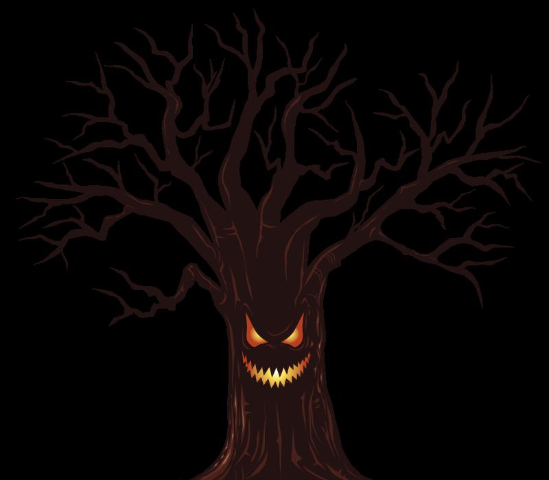 800x700 Spooky Tree Clip Art