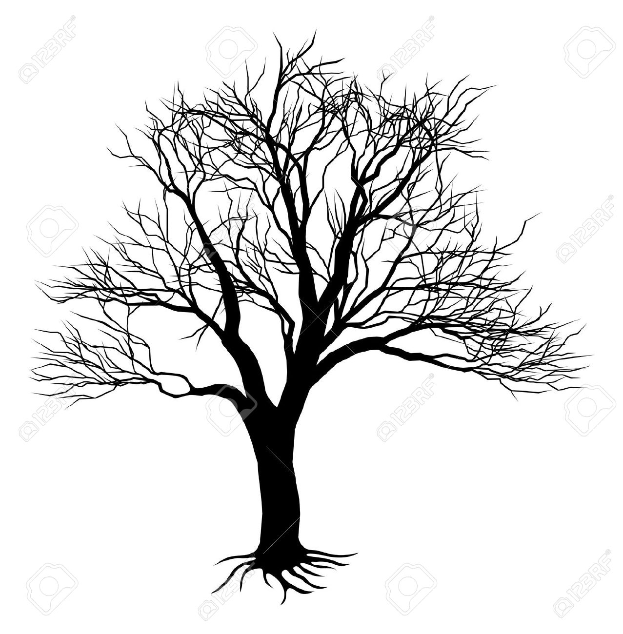 1277x1300 Gnarled Black Tree Stump Clipart