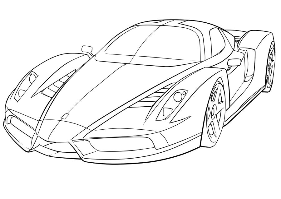 900x640 Awesome Sports Car Coloring Pages Ferrari Sport High Speed