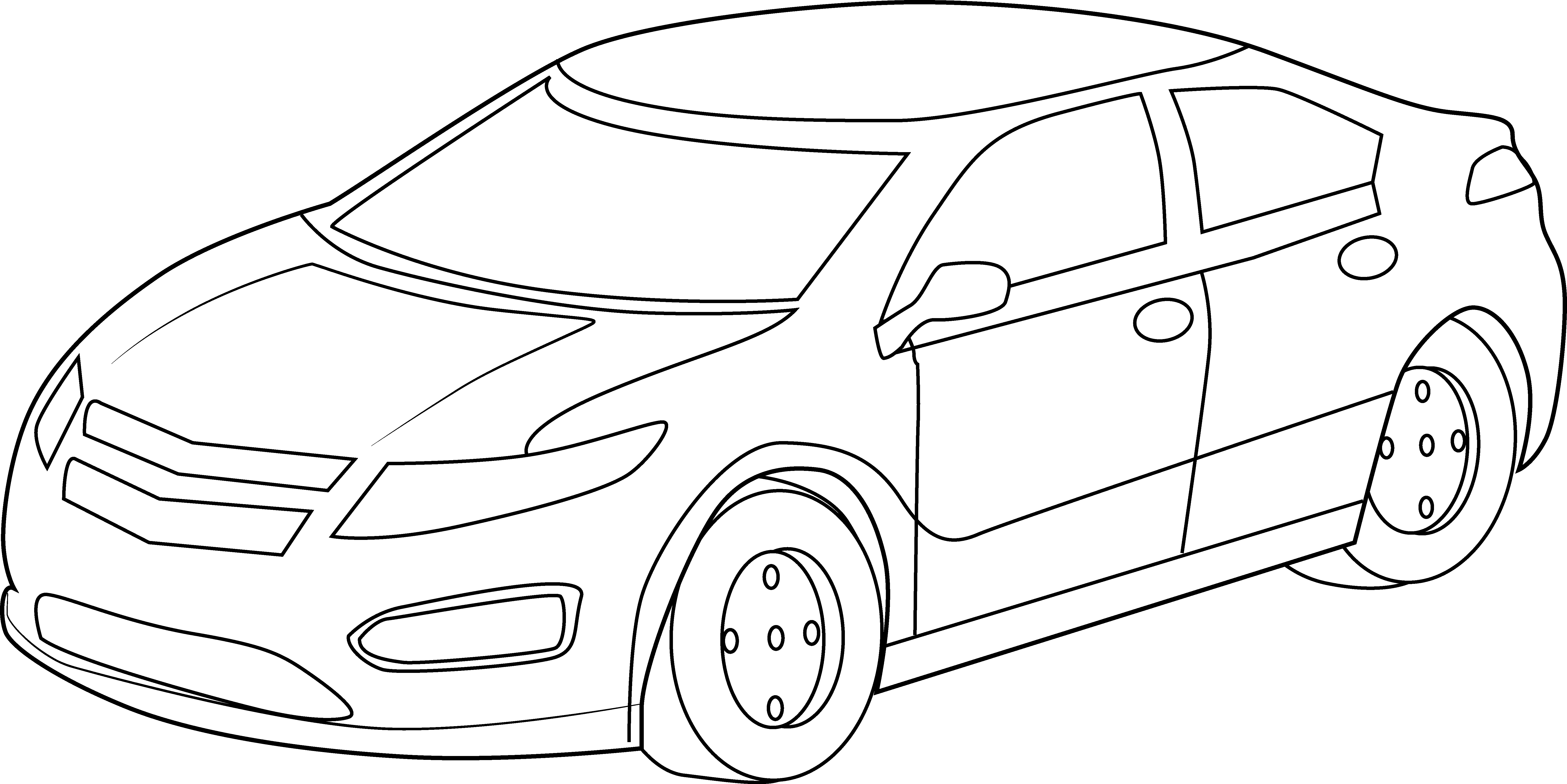 6881x3443 Cool Sports Car Coloring Page
