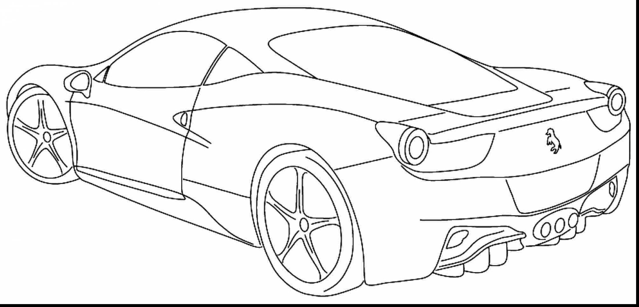 2200x1058 Coloring Page Of Cars Free Draw To Color