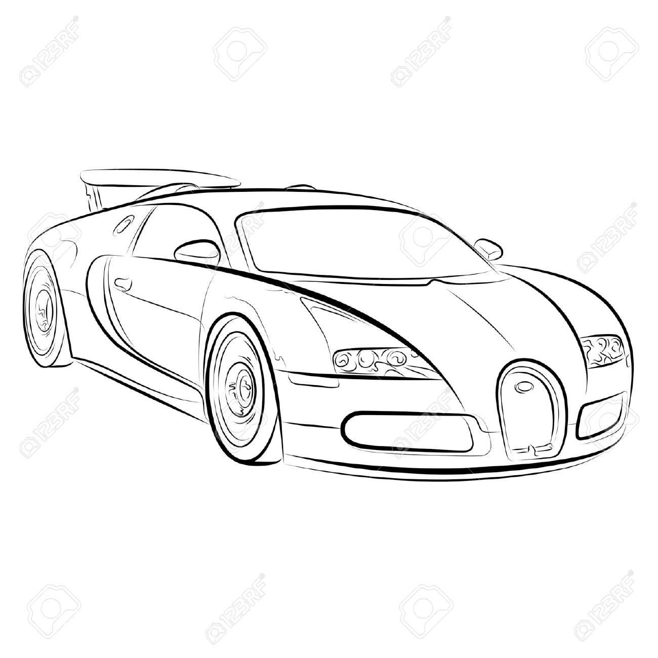 1300x1300 Drawing Of The Expensive Car. Royalty Free Cliparts, Vectors,