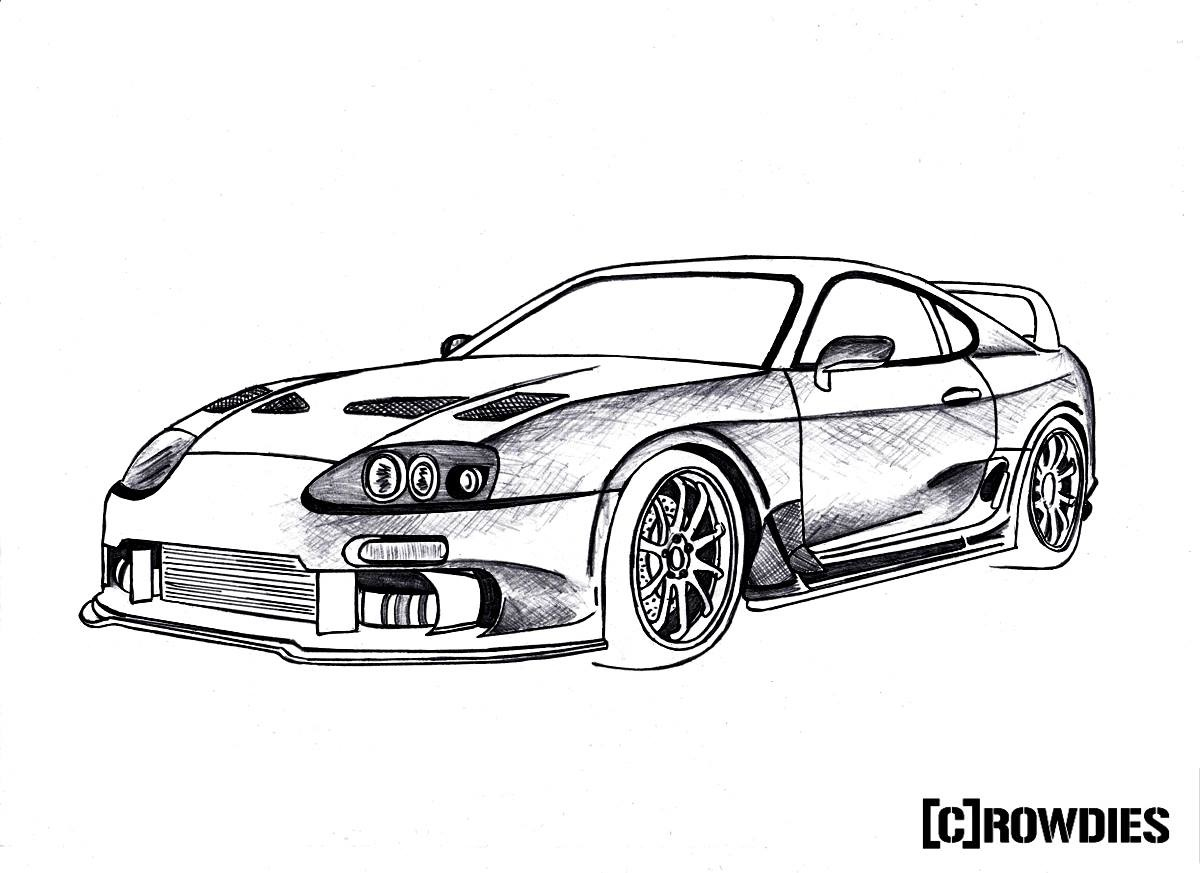 1200x873 Drawn Bmw Tuner Car