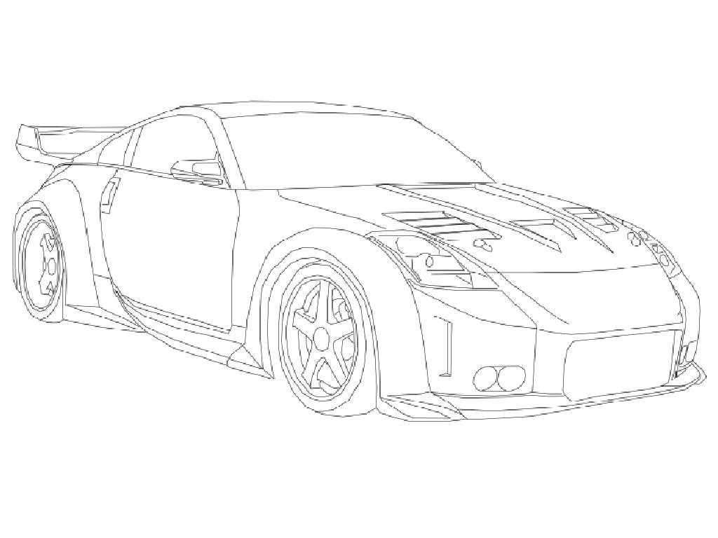 1024x768 Nissan 350z Coloring Pages Sports Cars Coloring Pages