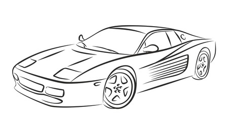 448x240 Photos Sports Car Outline Drawing,