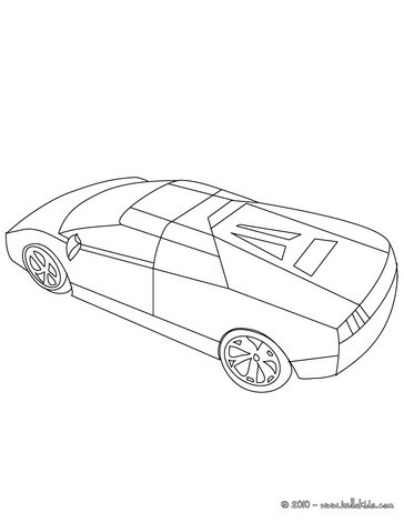 364x470 Sports Car Coloring Pages