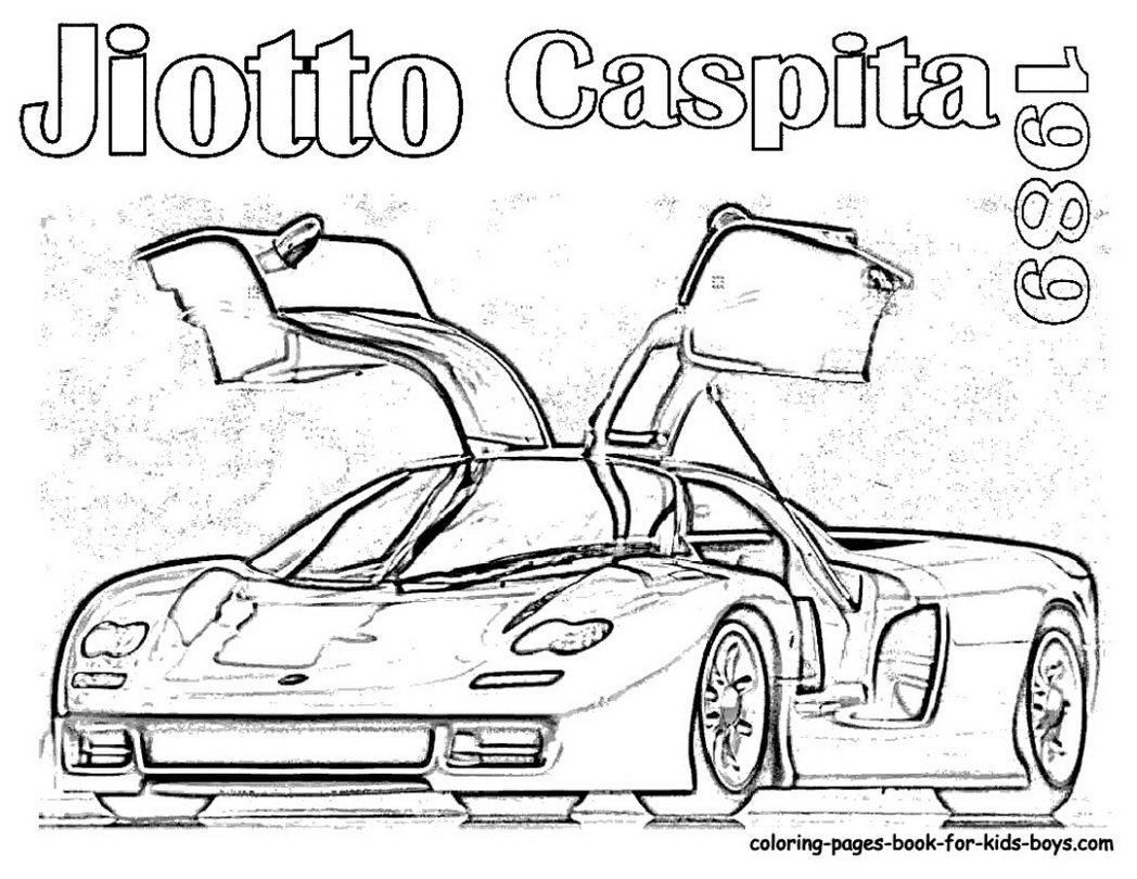1048x810 Sports Car Coloring Pages