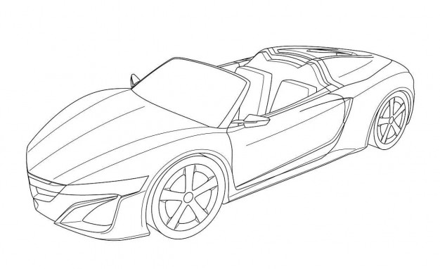 626x382 Acura Nsx Roadster Design Revealed In European Patent Filing Car