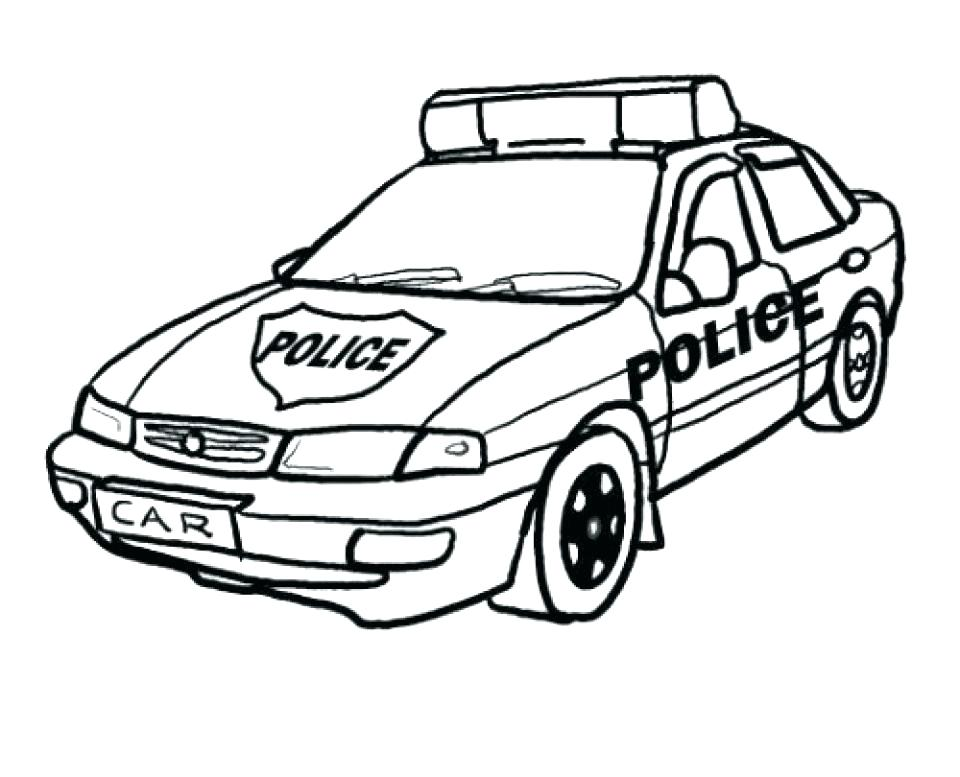 960x777 Car Color Page Police Cars Coloring Pages For Kid Car Coloring