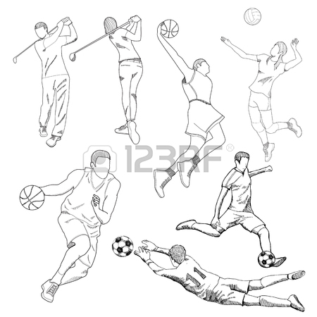 450x450 Drawing Of Sport Element Royalty Free Cliparts, Vectors, And Stock