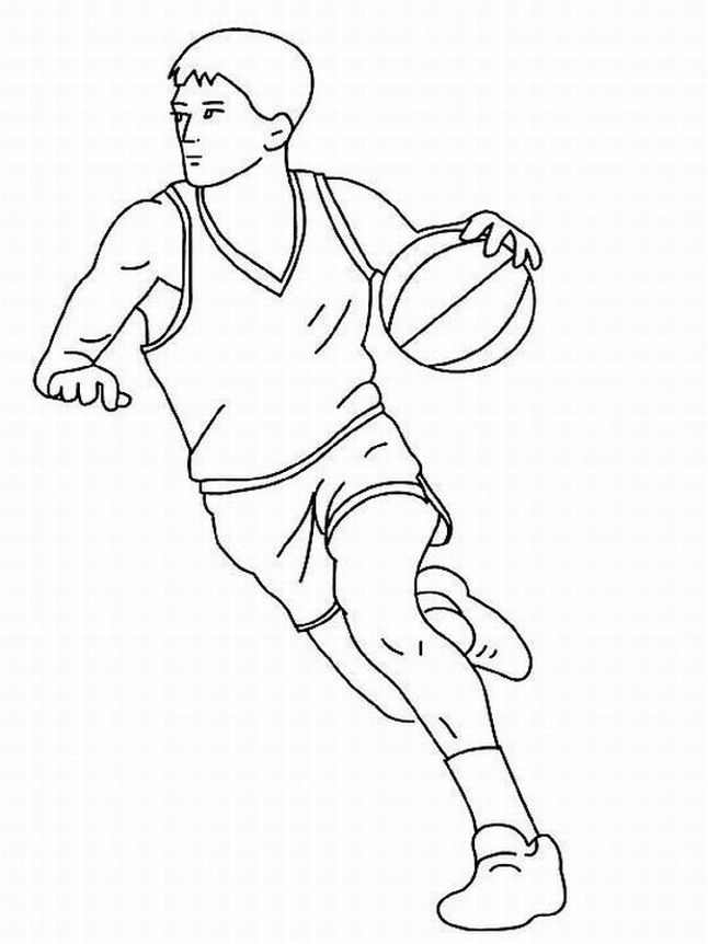 646x862 Kids Basketball Coloring Pages Sport Coloring Pages