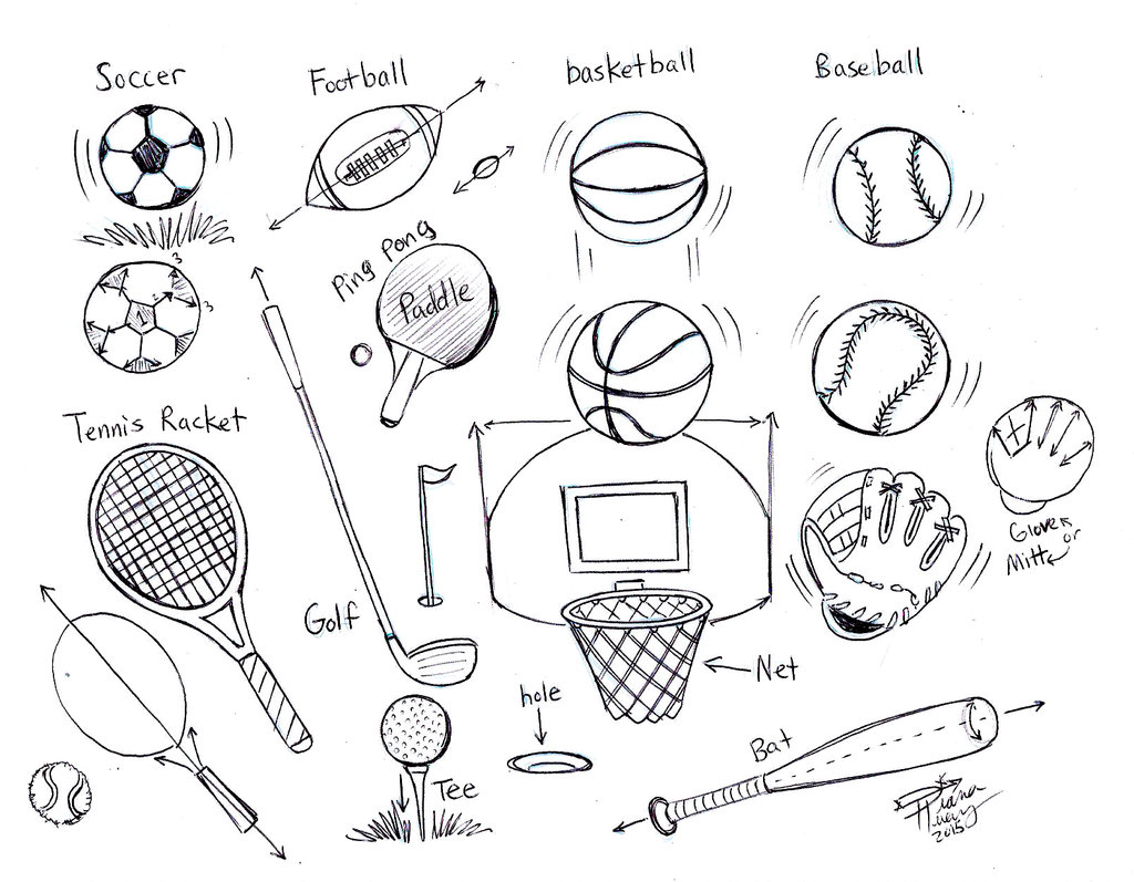 1024x797 Draw Sports Balls By Diana Huang
