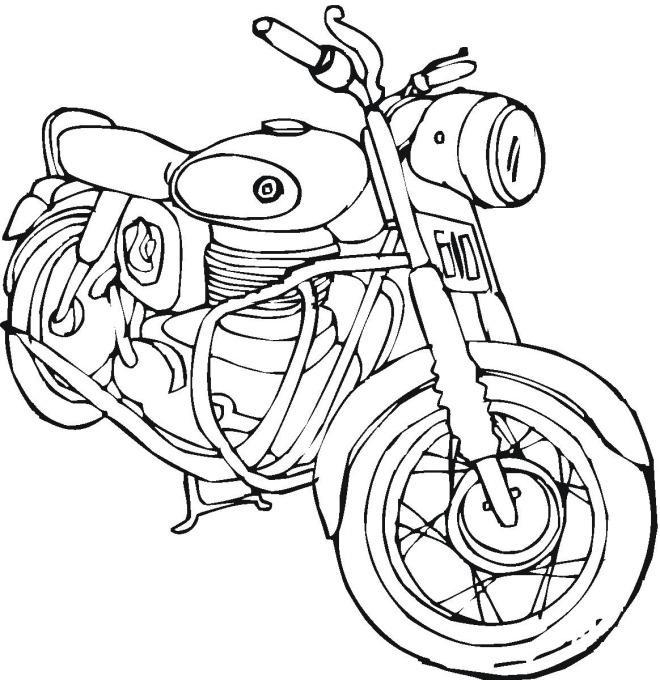 660x680 Motorcycle Coloring Page Kids Coloring Pages Adult