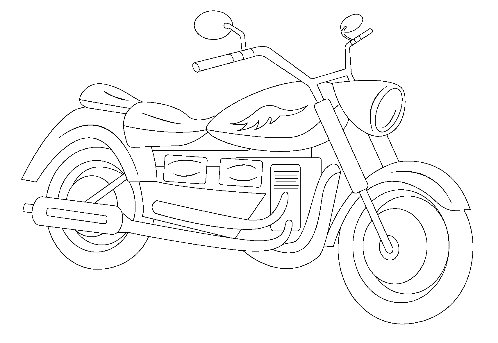 1713x1181 Photos Of Motorcycle Coloring Pages Baking Kids