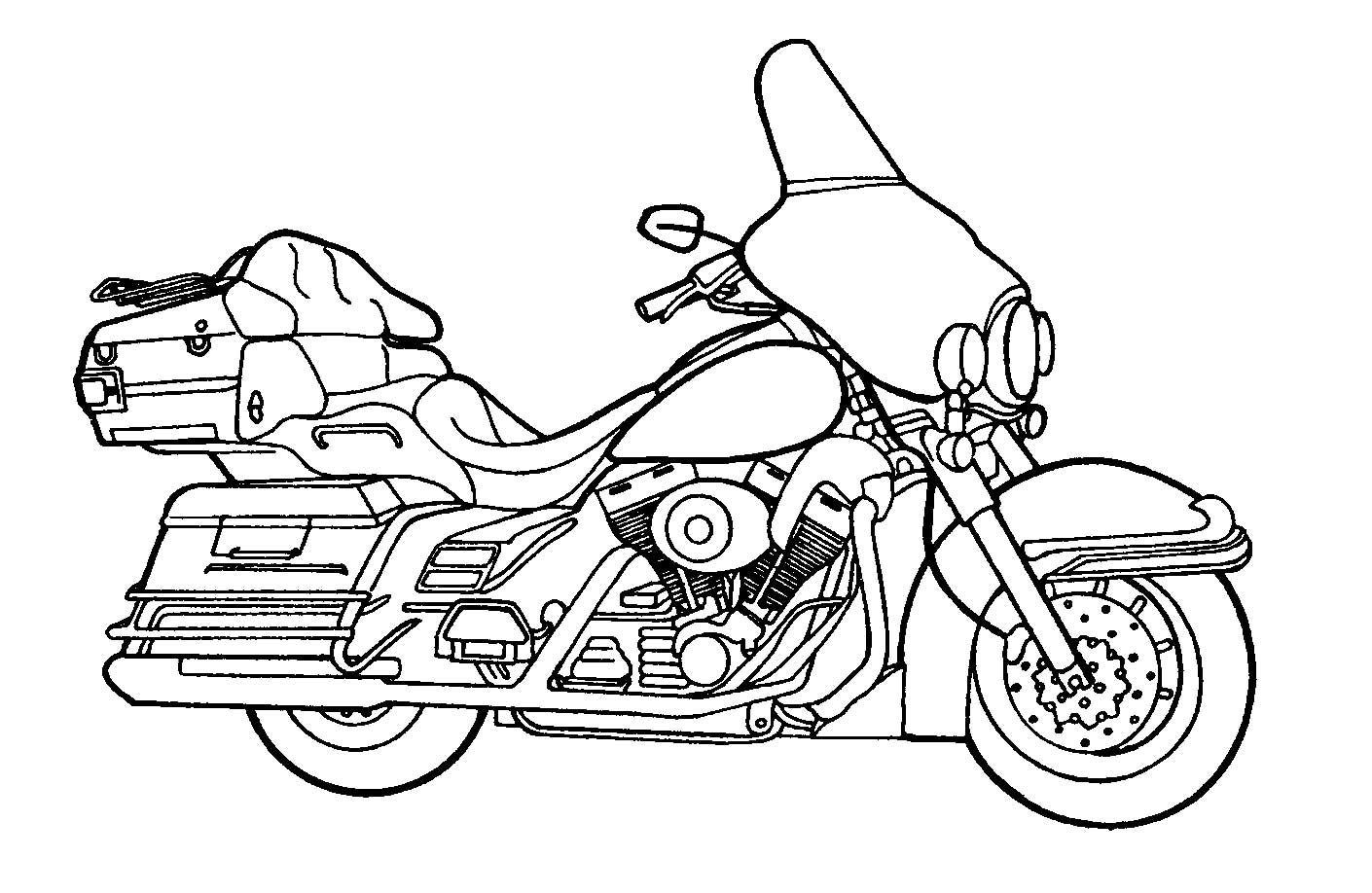 1410x918 Printable Motorcycle Coloring Pages For Preschoolers Http