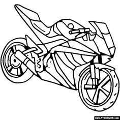 236x236 Transportation Motorcycle Sport Motorcycles Coloring Pages