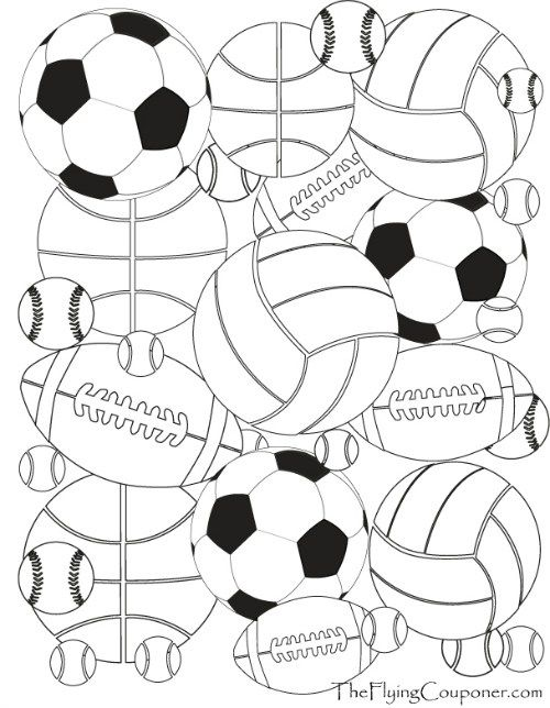 500x644 Free Printables! Colouring Pages For Adults And Kids. Sport Balls
