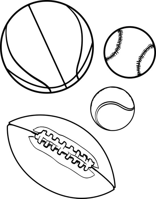 free coloring pages sports ball | Sports Balls Drawing at GetDrawings.com | Free for ...
