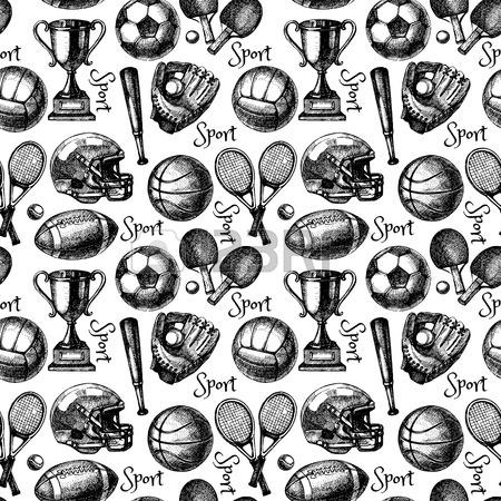 450x450 Hand Drawn Sports Set. Sketch Sport Balls. Vector Illustration