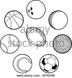 300x328 Set Of Sports Balls. 3d Illustration High Resolution Stock Photo