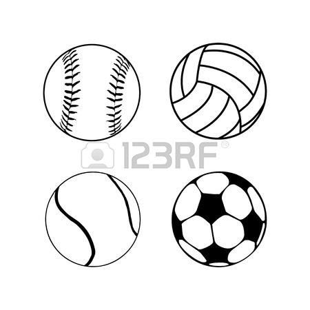 450x450 Silhouettes Collections Of Sports Balls Design And Color Colection