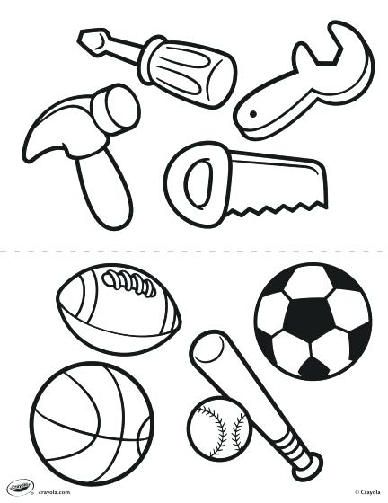 432x560 Sports Balls Coloring Pages Page Ball Free Printable