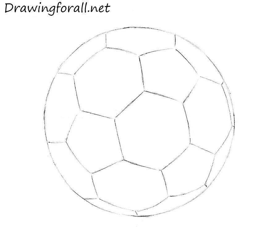900x776 Drawn Ball Soccer Ball