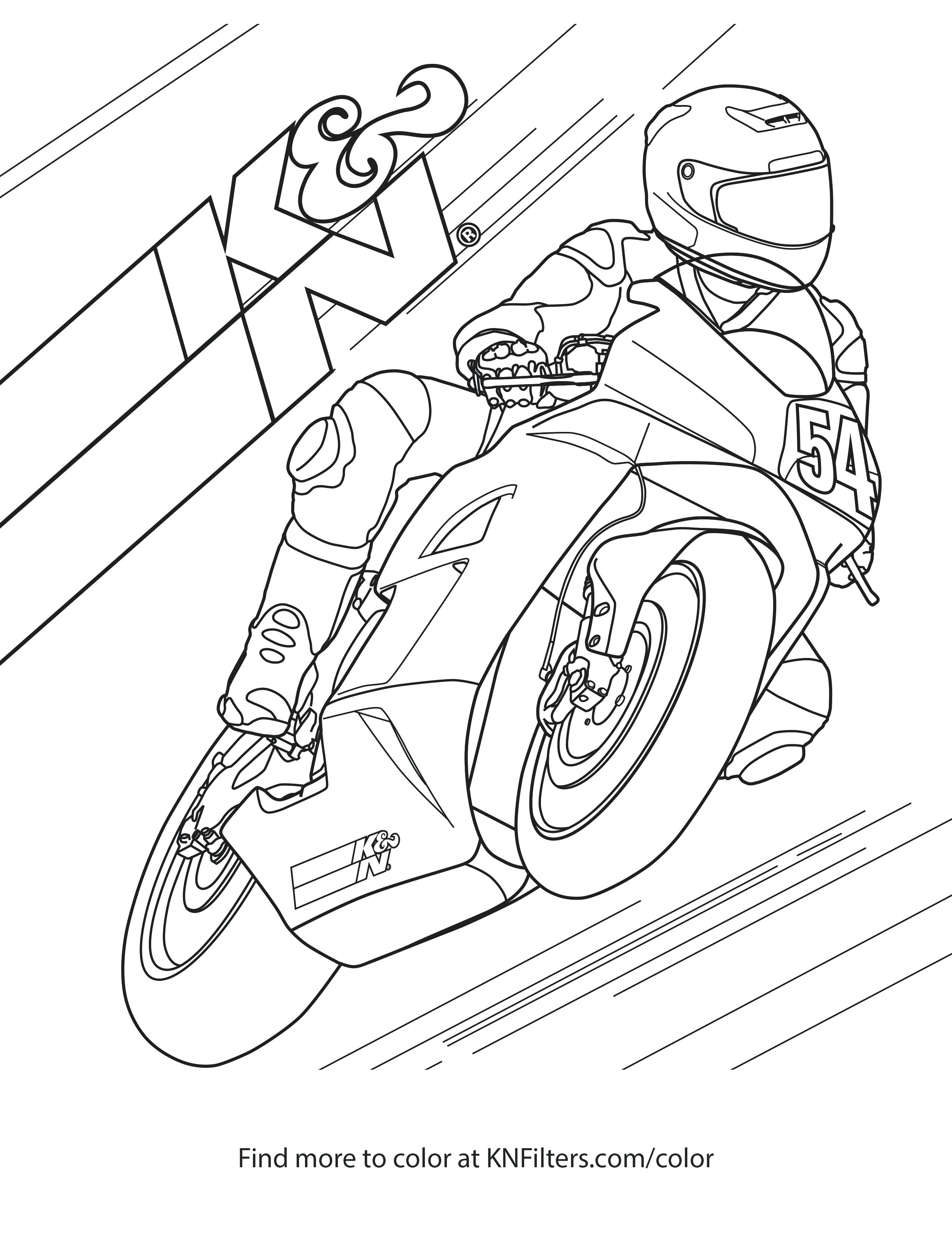 2550x3300 Coloring Dirt Bikes Coloring Pages Sport Bike Kn Printable Page
