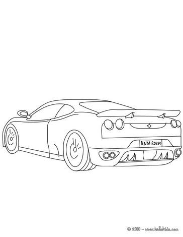 364x470 Ferrari F430 Coloring Pages