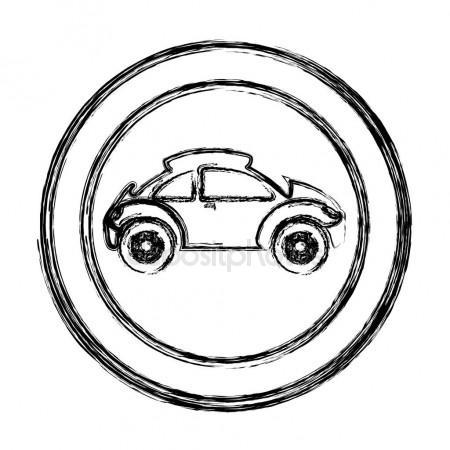 450x450 Sketch Of The Sports Car. Stock Vector Designer