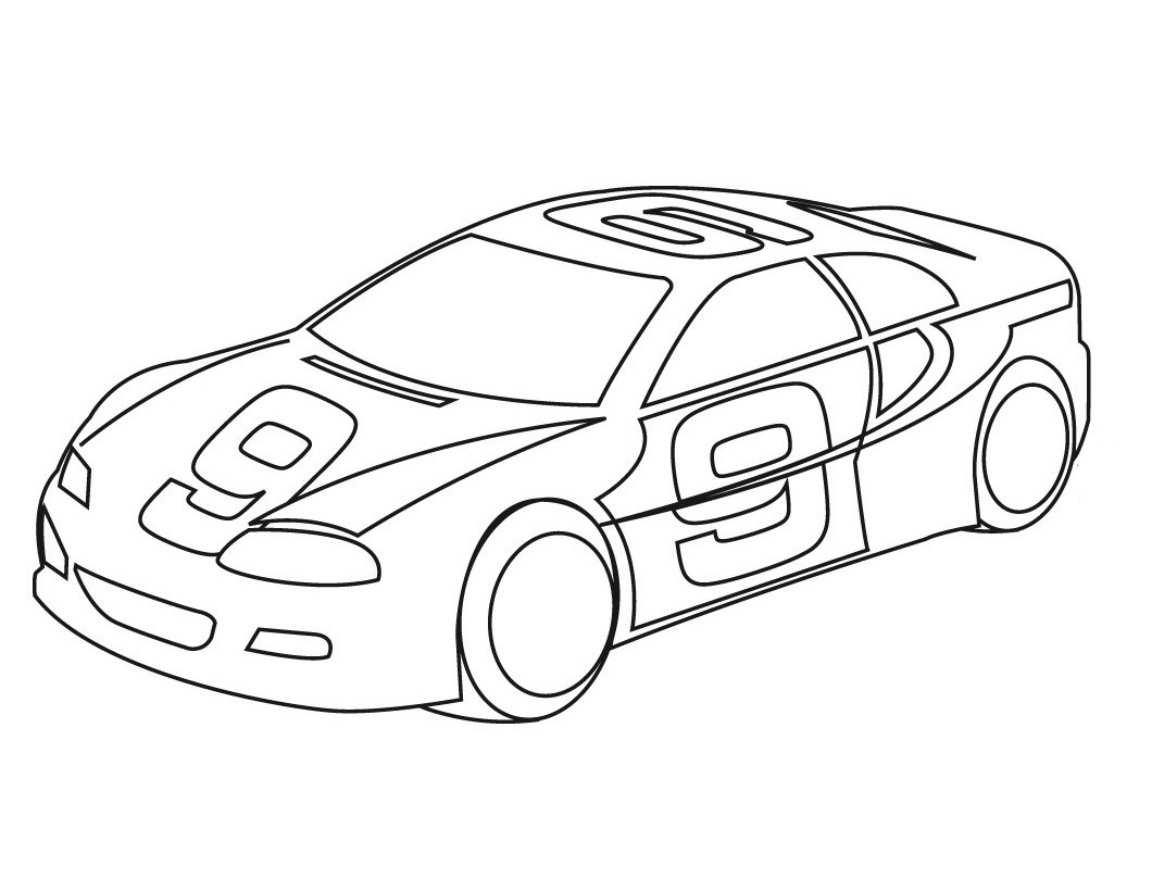 1060x820 Sports Car Coloring Pages
