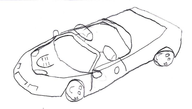800x454 Sports Car By Matthew, Age 8 Kid Cartoonists, By Bob Weber Jr.