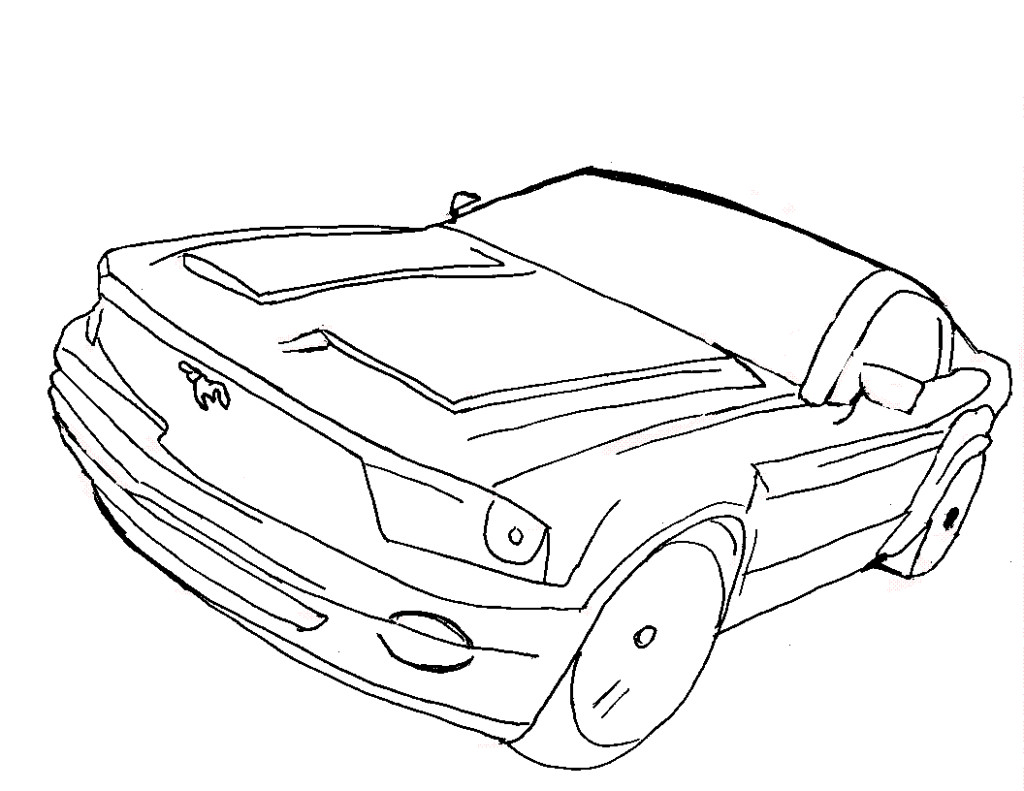 1024x791 All Of Sports Cars Coloring Pictures Muscle Car Page Colouring