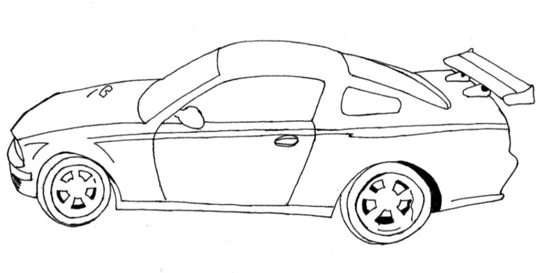 Sports Car Drawing at GetDrawings.com | Free for personal use Sports ...