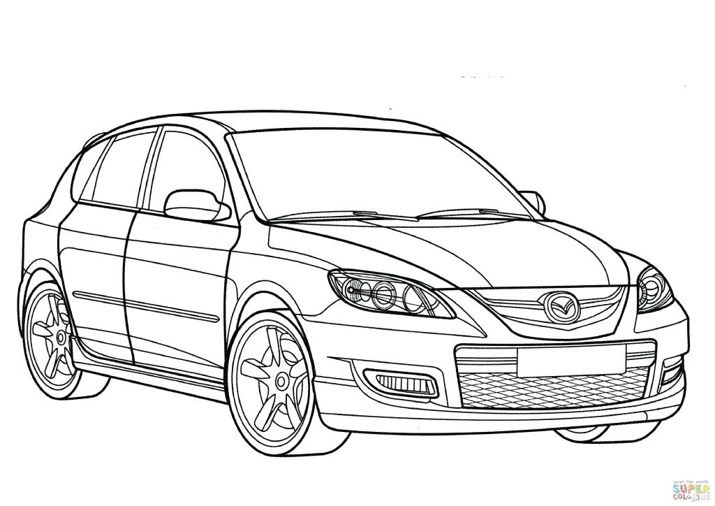 1024x724 Sports Car Coloring Page
