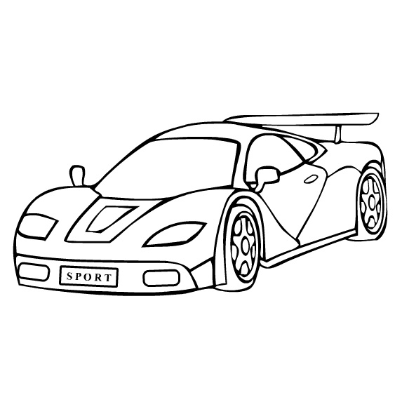 573x573 Car Coloring Pages 7