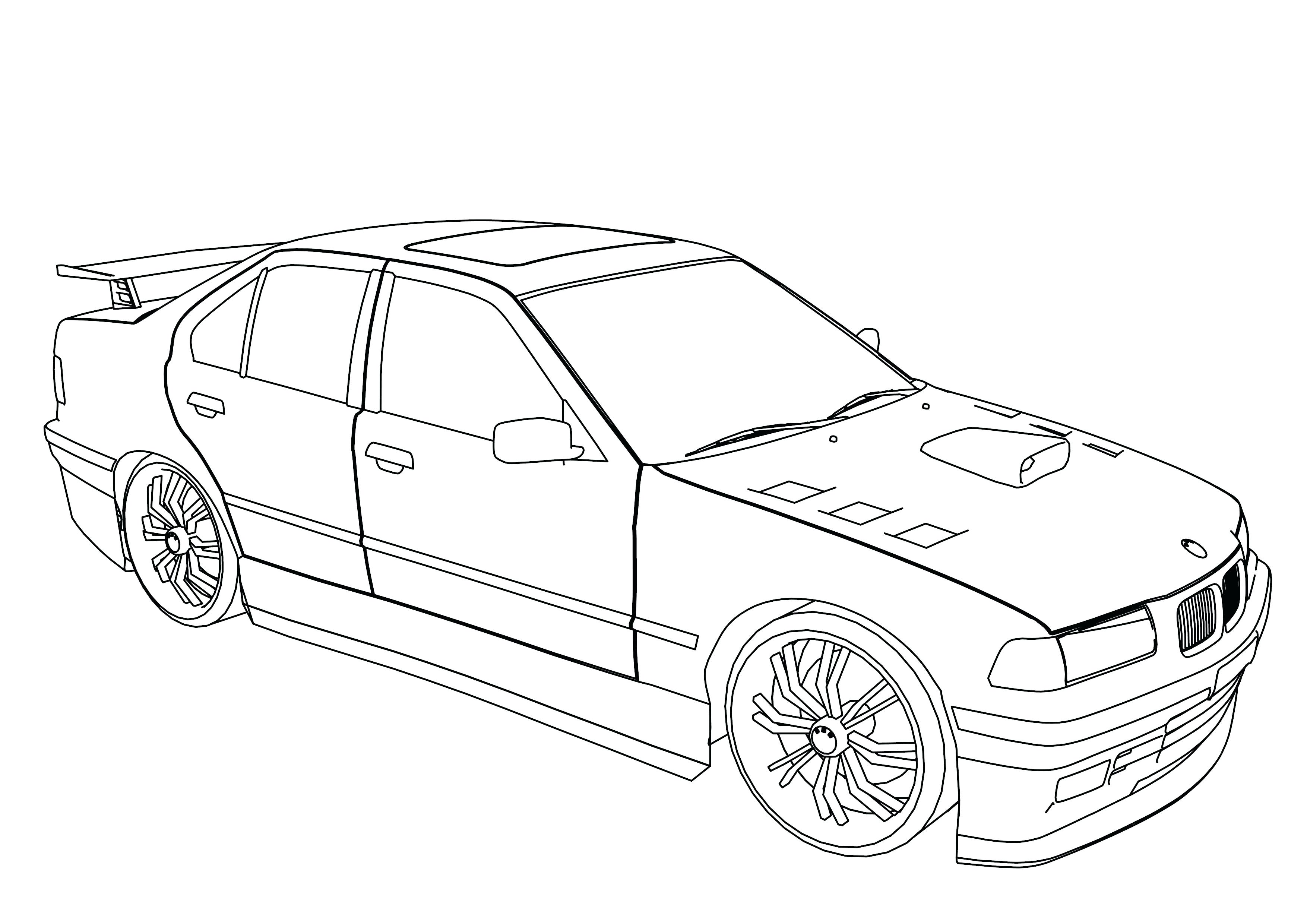 3508x2480 Coloring Sport Car Coloring Pages Cars To Print Free Printable