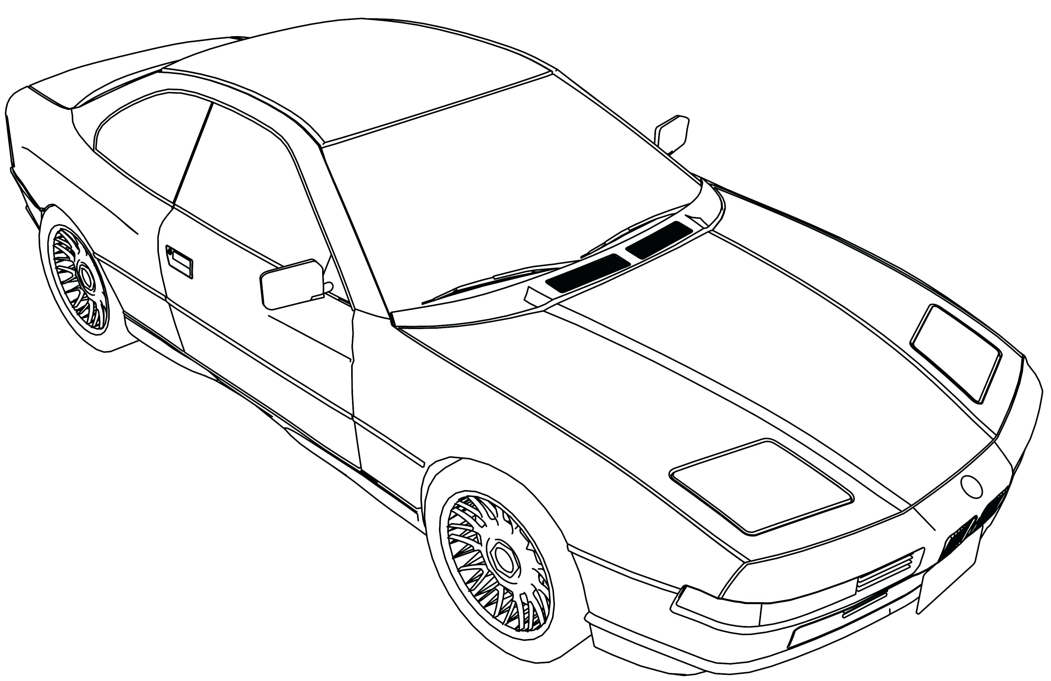 3400x2204 Coloring Sports Car Coloring Pages