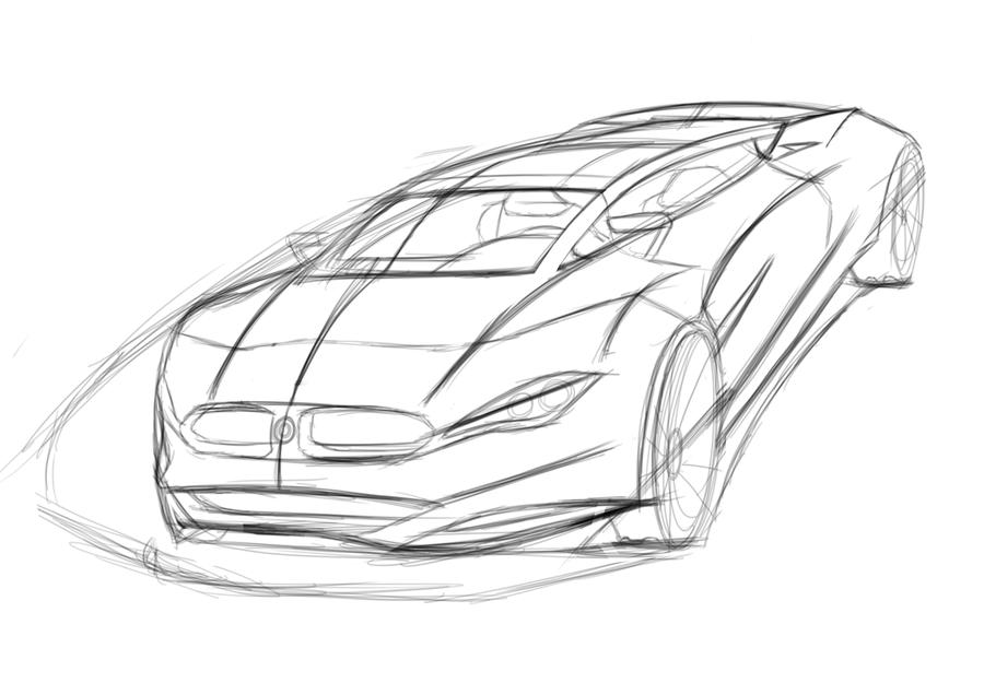 900x636 Bmw Sportscar Sketch By Dyrborgdesign