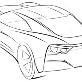 268x268 Coloring Pages Corvette Cars Archives