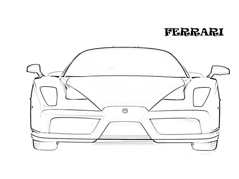 800x600 Exotic Cars Printable Coloring Page For Kids 19