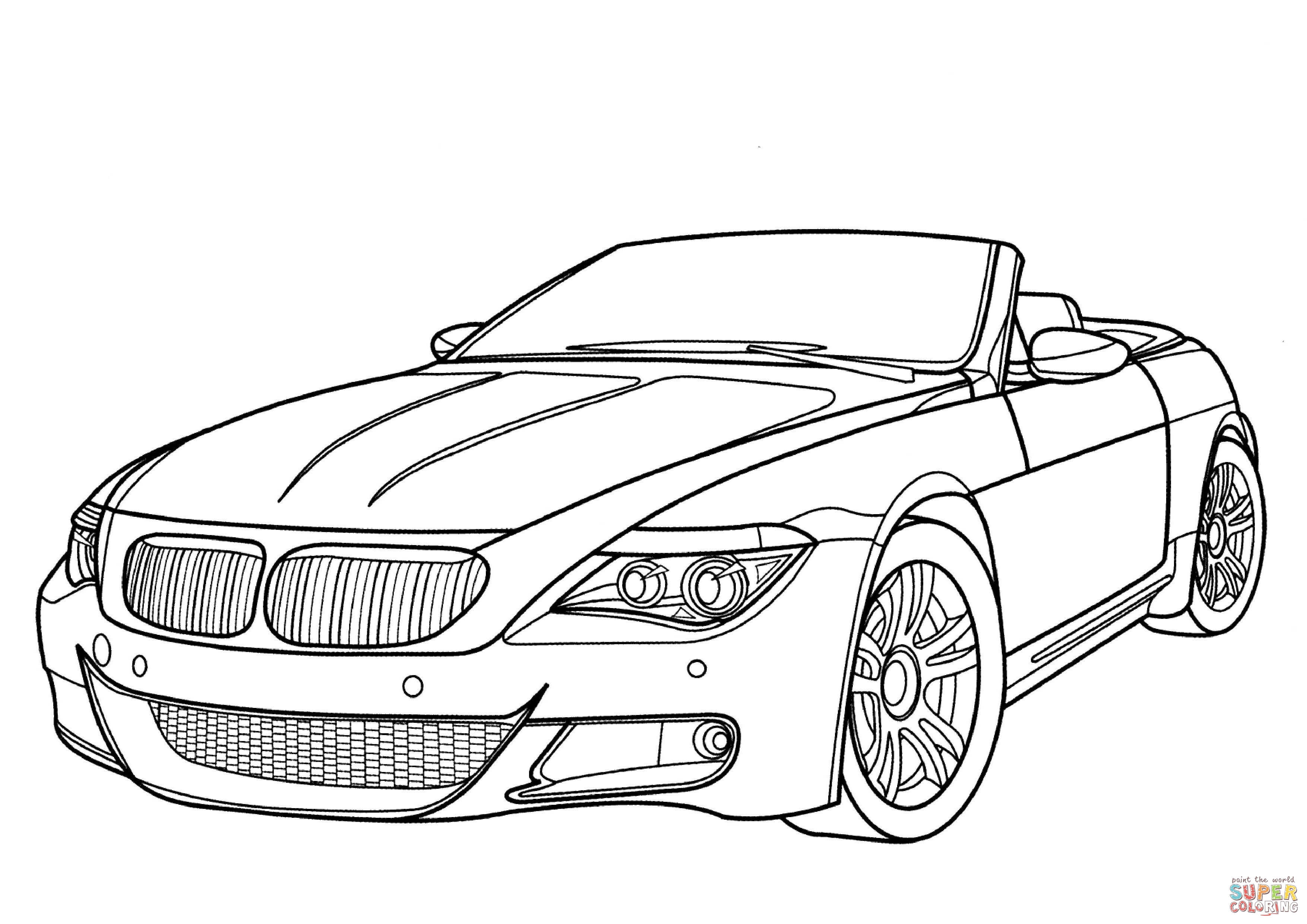 3508x2480 Bmw M6 Coloring Page Free Printable Coloring Pages