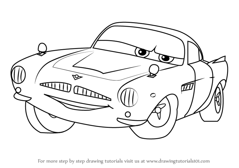 800x565 Learn How To Draw Finn Mcmissile From Cars 2 (Cars 2) Step By Step