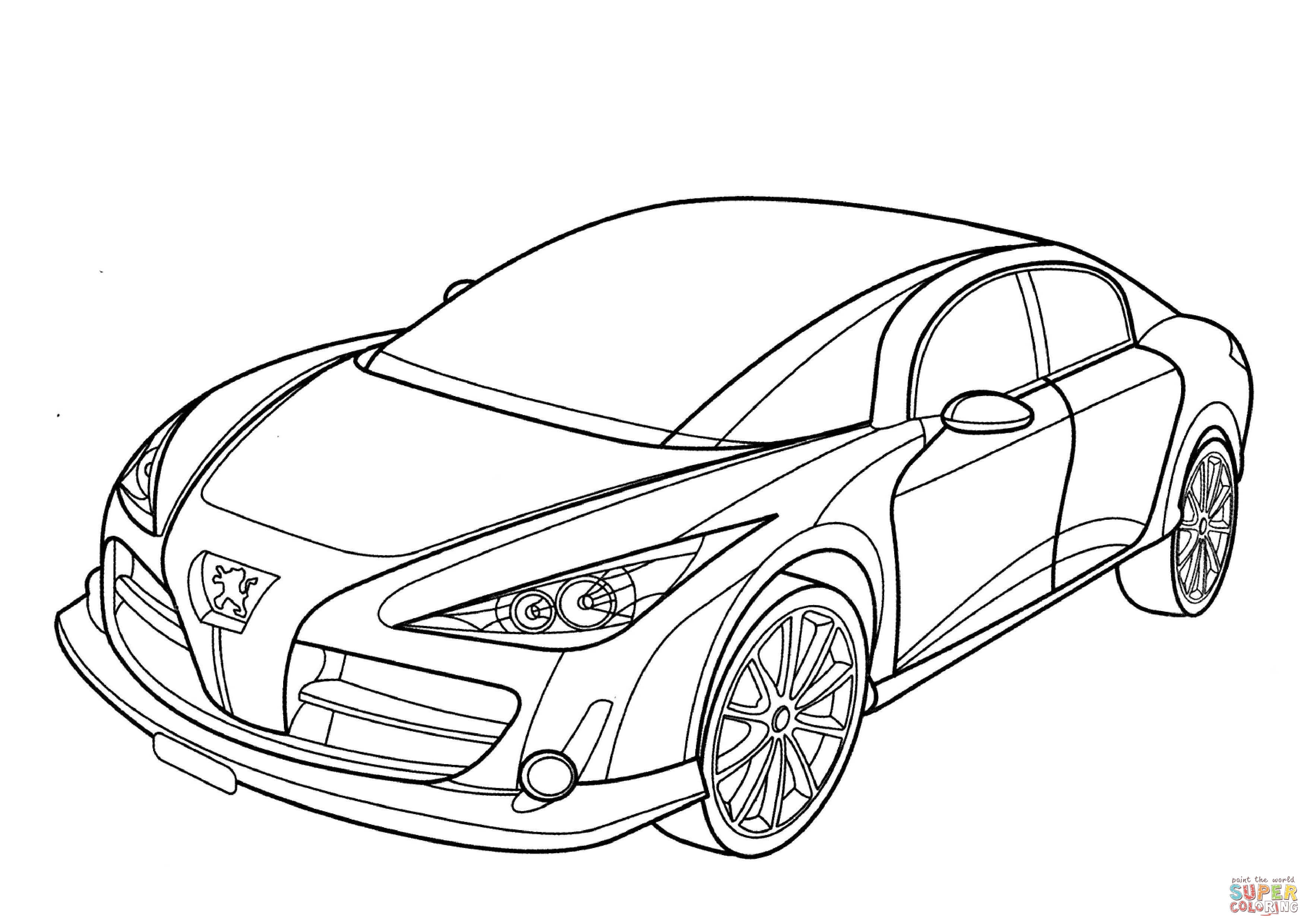 3508x2480 Peugeot Rc Coloring Page Free Printable Coloring Pages