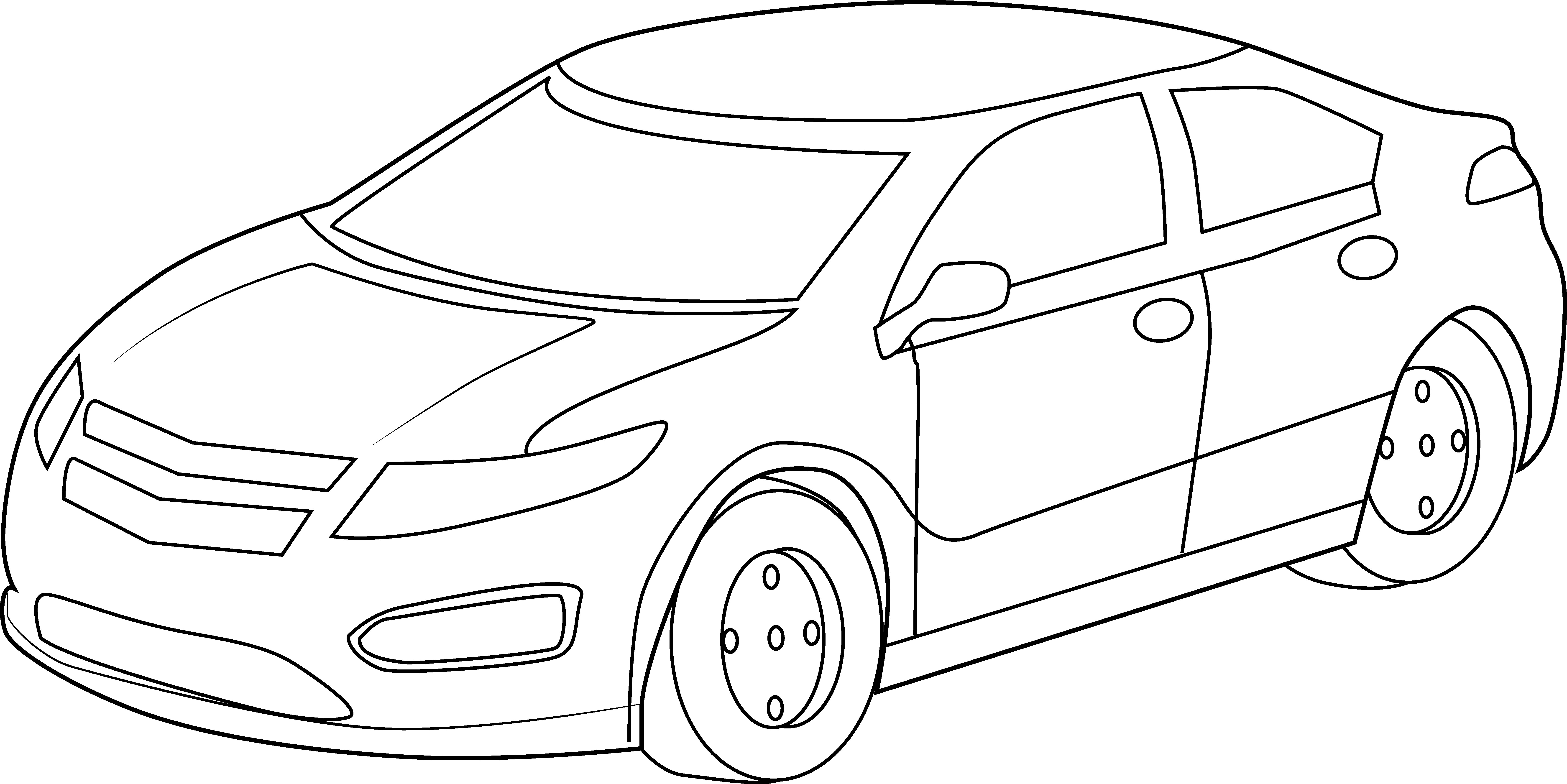 Sports Car Drawing Outline At Getdrawings Com Free For Personal