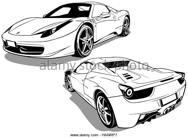 640x472 Car Outline Black And White Stock Photos Amp Images