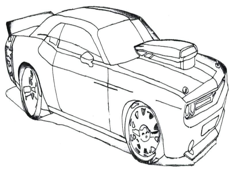 800x600 Sport Cars Coloring Pages