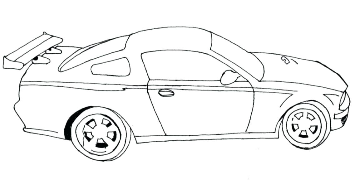 Sports Car Line Drawing