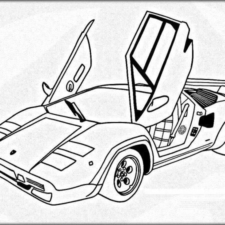 450x450 Free Car Coloring Pages Lamborghini Babysitting Girl Scouts