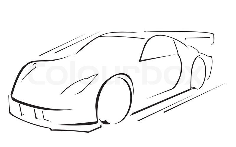 Sports Car Line Drawing At Getdrawings Free For Personal Use